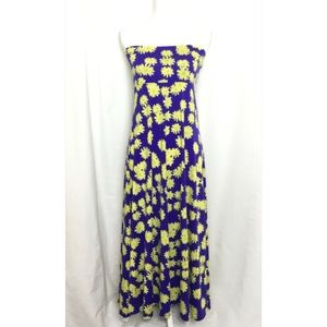 LuLaRoe Skirts - Lularoe maxi skirt size small blue yellow daisies
